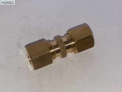 Messing koppeling 8 x 8 mm