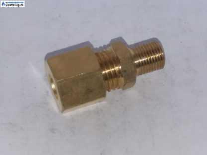 messing knelkoppeling 8 mm knel x 1/8 buitendraad recht