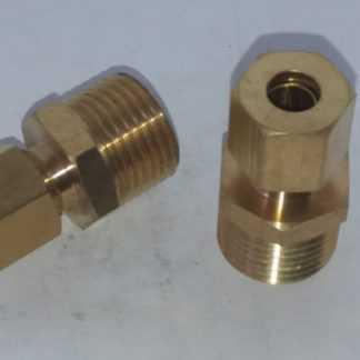 Messing knelkoppeling recht 8 mm x 1/2 buitendraad